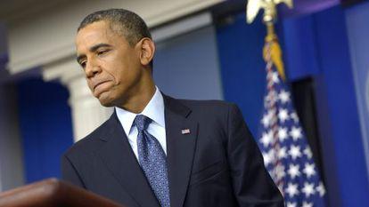 Barack Obama, durante una conferencia de prensa, el martes 8 de octubre.