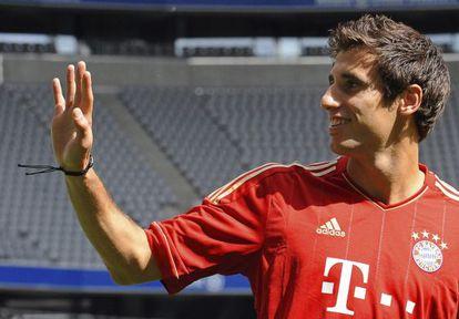Javi Martínez, el día de su presentación con el Bayern.
