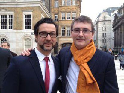 Quique Dacosta y Andoni Luis Aduriz, ayer en Londres.
