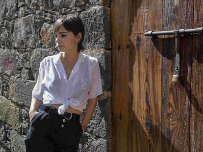 La escritora Andrea Abreu, en La Laguna (Tenerife), el pasado 8 de mayo.