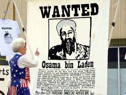 Un cartel de busca y captura de Osama Bin Laden en EE UU.