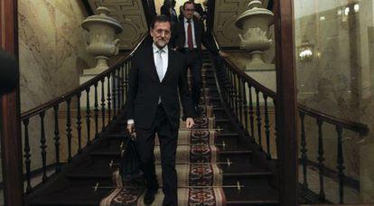 Mariano Rajoy, en el Congreso el 19 de diciembre de 2011, el día del debate de su investidura.