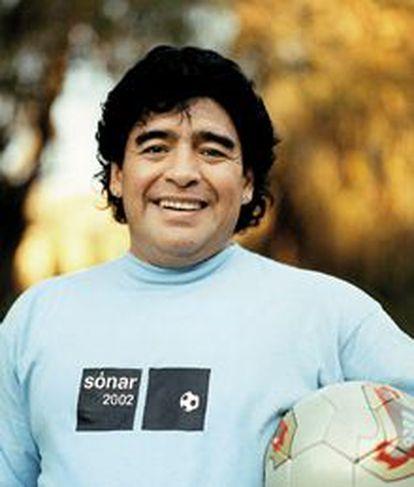Maradona, con la camiseta de Sónar, en una de las imágenes promocionales del festival.