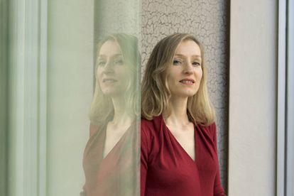 Corine Pelluchon, autora de 'Manifiesto animalista', en Barcelona en 2020.