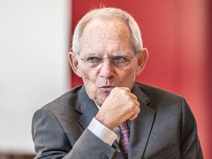 Wolfgang Schäuble, presidente del Bundestag alemán, durante una entrevista en su despacho el pasado febrero.