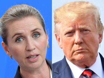 La primera minisrea de Dinamarca, Mette Frederiksen y el presidente de Estados Unidos, Donald Trump.