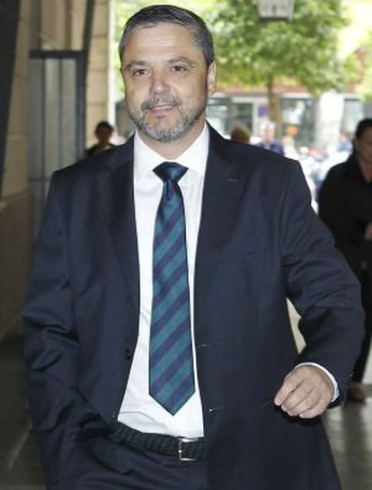 El exgerente de Mercasevilla Fernando Mellet, en los juzgados de Sevilla.