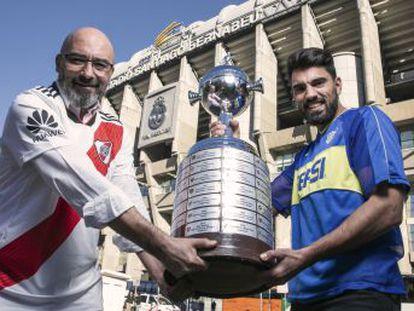 Representantes de las peñas de River Plate y Boca Juniors en Madrid cuentan cómo sienten a sus equipos en la distancia