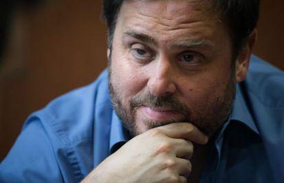 Oriol Junqueras, durante la entrevista.