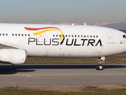 Un Airbus de la compañía Plus Ultra.
