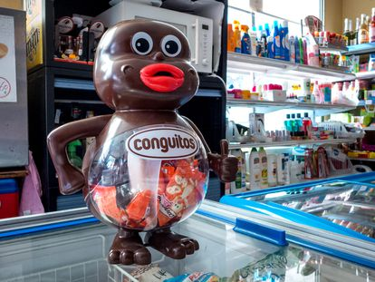 Dispensador de Conguitos en un supermercado.