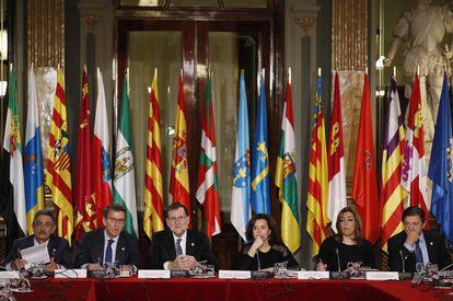 VI Conferencia de Presidentes Autonómicos. en el Senado. Mariano Rajoy, Presidente del Gobierno preside el acto