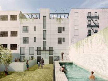 """Imagen del proyecto arquitectónico """"Cuatro Caminos""""."""