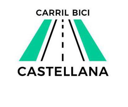 Logo de la campaña por un carril bici en la Castellana.