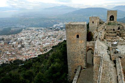 Castillo de Santa Catalina en lo alto de la ciudad de Jaén