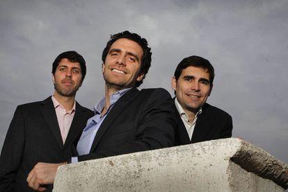 De izquierda a derecha: Víctor Gay, Marc Singer y Josep Burcet, socios de Koerentia.