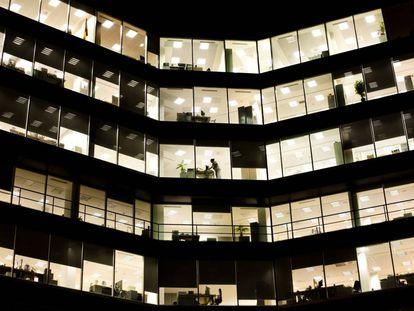 Edificio de oficinas en Madrid.