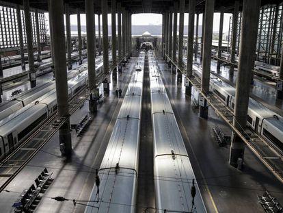 Vista general de la estación de Atocha, este miércoles.