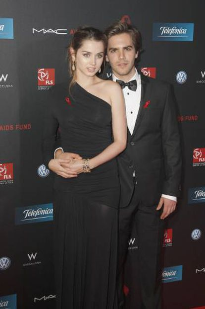 Ana de Armas con el que fue su marido durante dos años, el también actor Marc Clotet, en un evento celebrado en Barcelona en 2011.