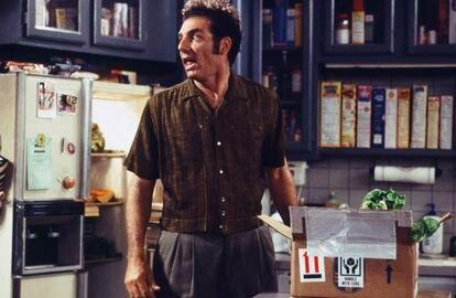 Michael Richards, en un instante del noveno capítulo de la cuarta temporada de 'Seinfeld'