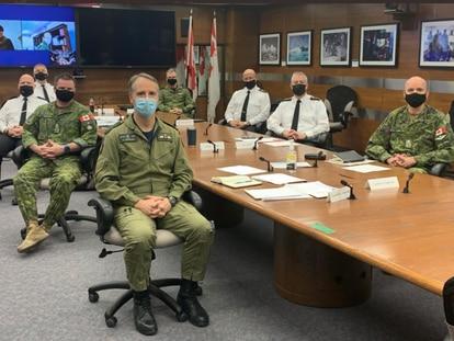 Reunión de la cúpula militar de Canadá para discutir sobre políticas de inclusión en las Fuerzas Armadas, el pasado miércoles.