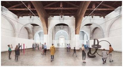 Recreación virtual del taller de Barrenado de la Real Fábrica de Artillería de Sevilla. Proyecto de Francisco Reina y Edartec.