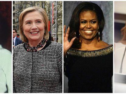 Desde la izquierda: Jackie Kennedy, Hillary Clinton, Michelle Obama y Melania Trump.