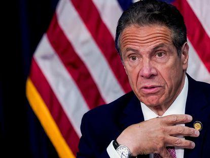 El gobernador de Nueva York, Andrew Cuomo, habla durante una rueda de prensa, en Nueva York (Estados Unidos), el pasado 10 de mayo.