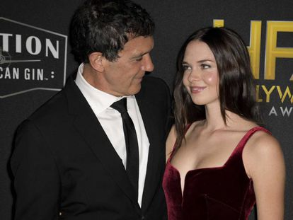 Antonio Banderas y su hija Stella Banderas.