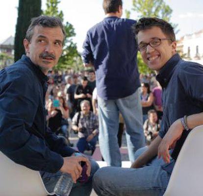 Íñigo Errejón y José Manuel López, este viernes en Alcalá de Henares.