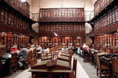 Sala de lectura de la biblioteca del Ateneo de Madrid.