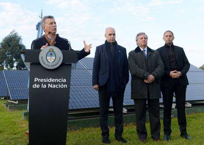 El presidente de Argentina, Mauricio Macri, lanza el plan de energías renovables RenovAr