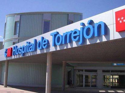 Entrada al Hospital de Torrejón.