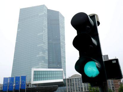 Fachada del Banco Central Europeo, en Fráncfort (Alemania), el 8 de julio.