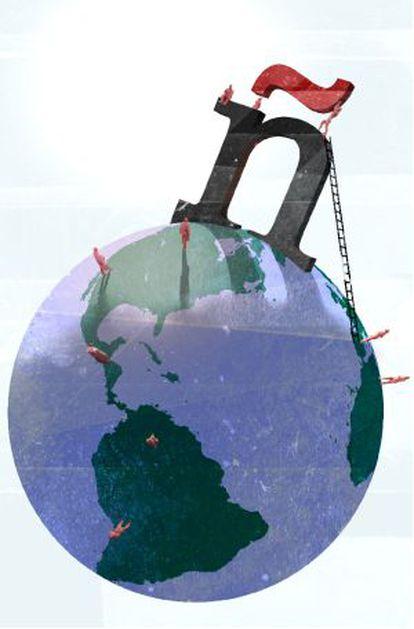 El español en el mundo ( letra ñ) , ilustración de Marcos Guardiola.