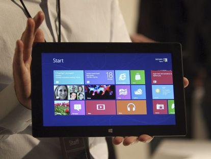La tableta de Microsoft, Surface.