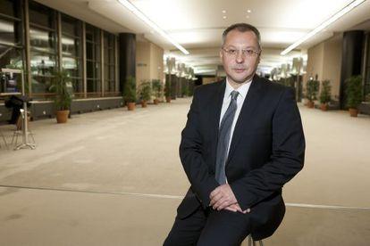 Sergéi Stánishev, en la sede del Parlamento Europeo, en Bruselas.