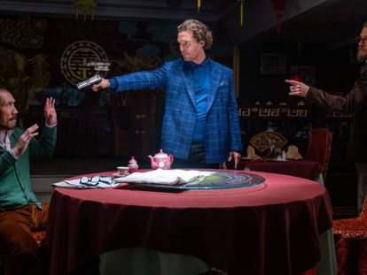 Tom Wu, Matthew McConaughey y Charlie Hunnam en 'The Gentlemen'. En vídeo, un adelanto de la película.