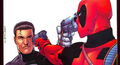 Punisher contra Deadpool, por Steve Dillon.