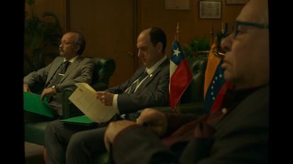 Andrés Parra, en el primer episodio de 'El presidente'.