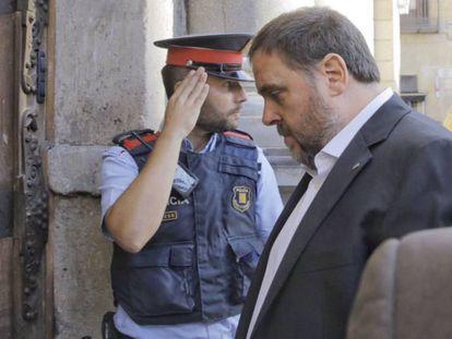 Oriol Junqueras, hoy en la Generalitat.