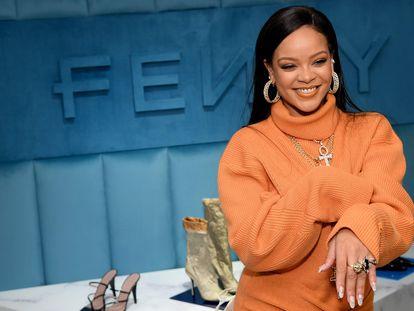 Rihanna, el 8 de febrero de 2020 en la celebración de la llegada de su firma Fenty a los almacenes Bergdorf Goodman de Nueva York.