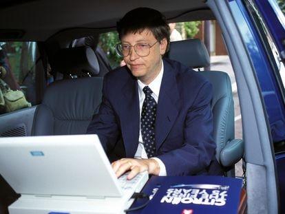 Bill Gates en París durante la presentación de 'Windows 95', en septiembre de 1995
