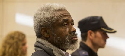 Leonardo Patterson durante el juicio que se celebró en Santiago el jueves.