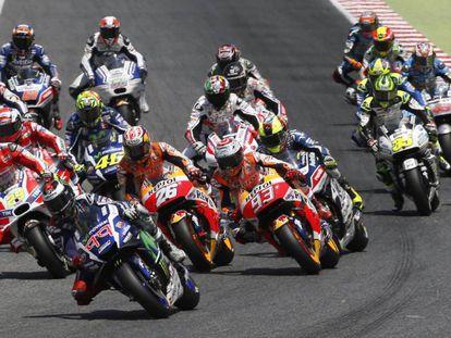 Prueba de MotoGP del Mundial de Motociclismo celebrado en el circuito de Montmeló.