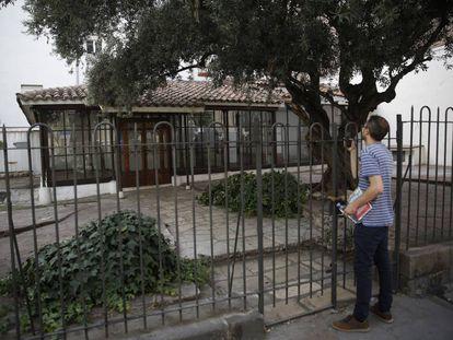 El Jardín del Ángel, en el barrio de Las Letras, ya vacío.