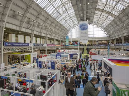 Vista del recinto de la Feria del Libro de Londres el 13 de marzo de 2019.