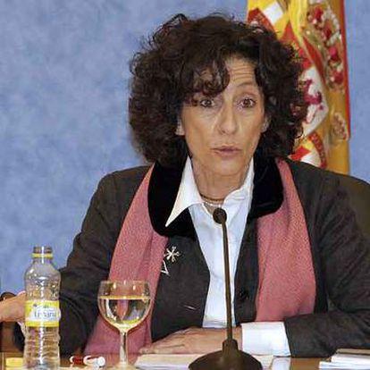 La ministra de Educación, Mercedes Cabrera, ayer.