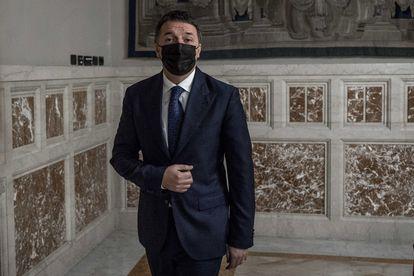 El líder de Italia Viva, Matteo Renzi, el pasado 30 de enero, en Roma.