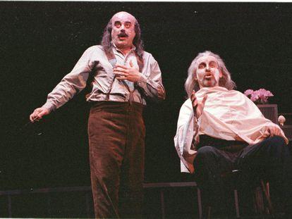 Una imagen del 'Sweeny Todd' de Mario Gas con Constantino Romero.